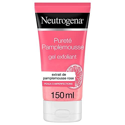 Neutrogena Gel Exfoliant au Pamplemousse Rose, Anti-Imperfections, Peaux normales à grasses - Tube 150 ml
