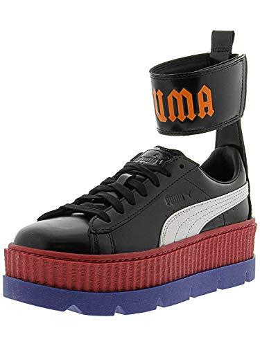 PUMA Damen Fenty X Knöchelriemchen Sneaker, Schwarz (Schwarz/Weiß/Rot/Blau/Flamme), 40 EU
