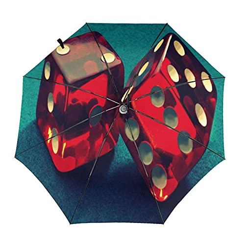Diseño automático ligero compacto portátil del paraguas del viaje cuadrado rojo y alta resistencia del viento