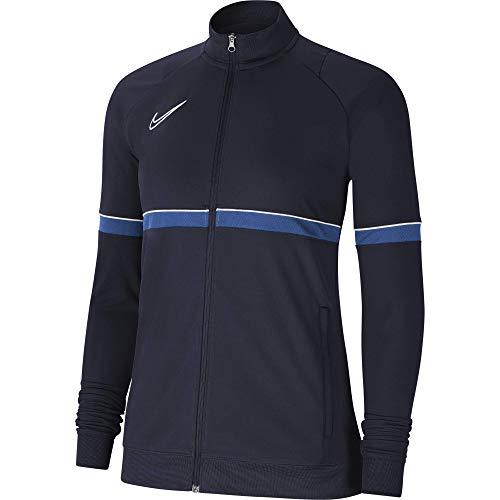 NIKE Chaqueta para mujer Academy 21 Track Jacket, Mujer, CV2677-453, negro/blanco/azul real/blanco, medium