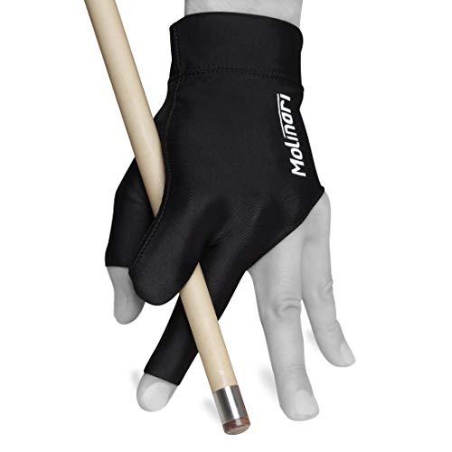 Molinari Billiard Glove - for Left Hand (Black, Regular (One Size fits...