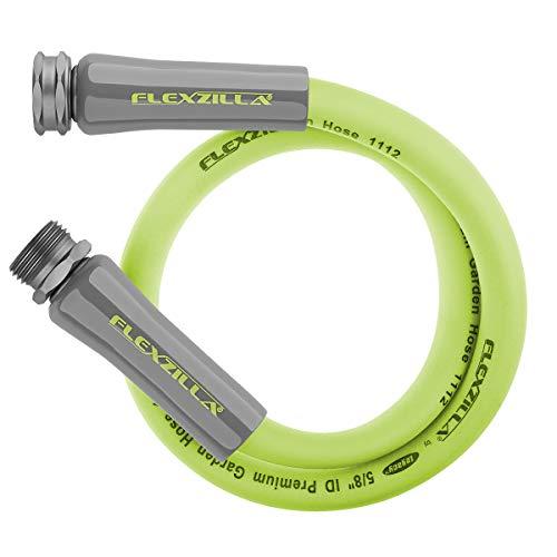 Flexzilla Garden Lead-in Hose, 5/8 in. x 5 ft., Heavy Duty, Lightweight, Drinking Water Safe - HFZG505YW