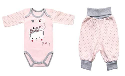 Seruna Geschenk-Set Baby BY35 Gr. 56, Erst-Ausstattung Katze-n Motiv Säugling-e Babies klein-e Mädchen Weihnacht-en