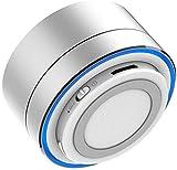 telsa - altoparlante wireless portatile bluetooth in metallo – 360 gradi surround, vivavoce e microfono integrato con batteria interna ricaricabile e supporta tutti i dispositivi bluetooth