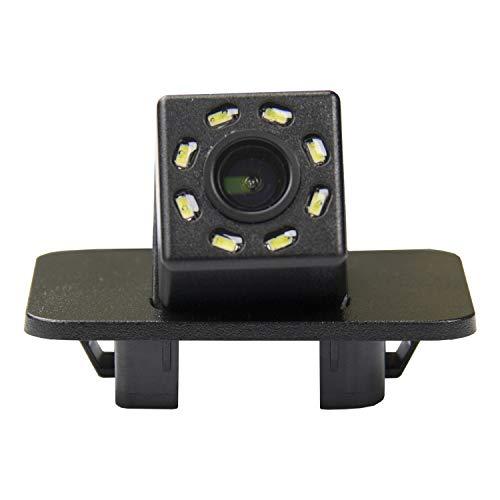 HD 720p Nachtsicht Rueckfahrkamera Wasserdicht Farbkamera 170° Rückfahrkamera Kennzeichenleuchte Einparkhilfe Kamera für Mazda 2 (4 Doors) 2016 2017