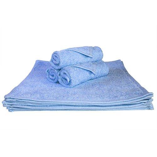 Super absorbantes, épais et moelleux Serviette de Visage – Idéal pour la maison ou Spa, B & B, à l'hôtel et Hôtel Utilisation – 500 g/m² – 100% coton – 30 cm x 30 cm – Bleu ciel