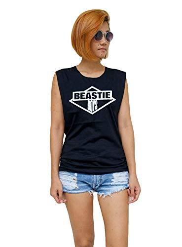 Women's Black Beastie Boys Logo Tank Top, S to XL, Stonewash also available.