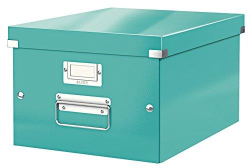 Leitz Caja de almacenamiento mediana A4, Turquesa, Click and Store, 60440051