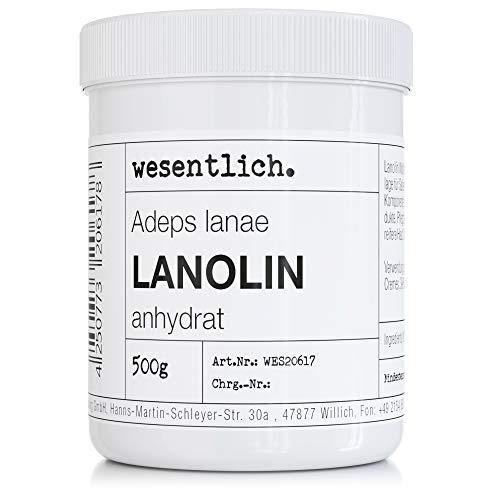 Lanolin Wollfett anhydrat 500g - wasserfrei und kaum Geruch - Wollwachs von wesentlich.