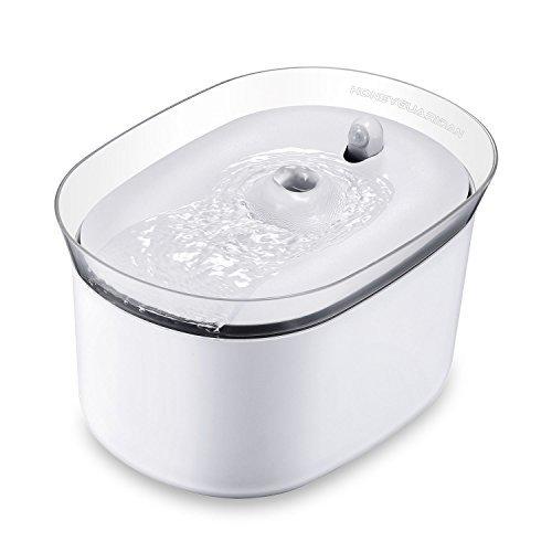 HoneyGuaridan W25 - Dispensador automático de fuente de agua para mascotas con inducción infrarroja, diseñado para perros y gatos, paquete de 2 filtros de carbono