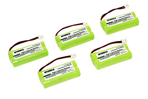 INTENSILO 5X NiMH batería 800mAh (2.4V) para teléfono Fijo inalámbrico Siemens Gigaset AL110, AL110 Duo, AL110 Trio, AL110a y V30145-K1310-X359.