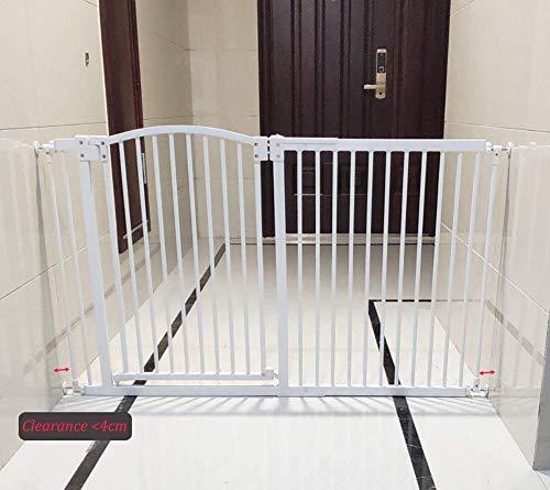 safc Einfache Installation Sicherheit Baby Gate, Metall Child Pet Gate für Treppen/Türen, Druckanpassung Durchgang durch Schutzbarriere, breit 29,5-76,1 Zoll (Größe: 145-154 cm)