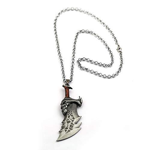 VAWAA Dios De La Guerra 60cm Collar Kratos Hojas De Armas De...