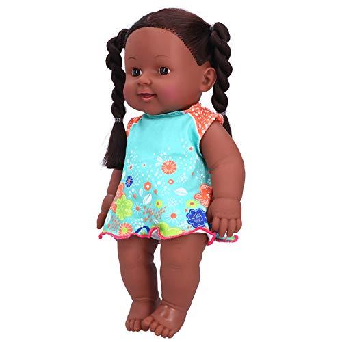 Puppe, 30cm Kinderpuppenspielzeug, 3 Farben Optional Schön für Babykinder(Q12-09 blue orange contrast skirt)