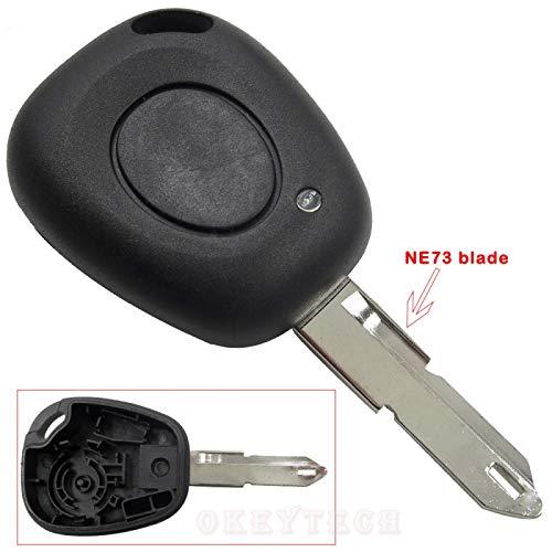 Carcasa de Llave de Coche de Control Remoto para Renault Megane Scenic Laguna Espace Clio 1 botón sin Cortar NE73 Cubierta de Coche de Repuesto