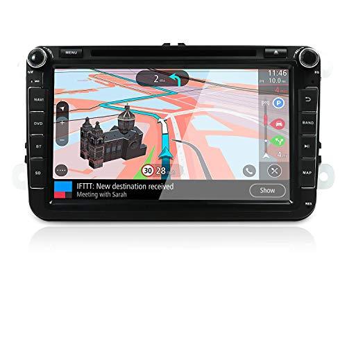 JOYX Wince 6.0 Autoradio für VW Golf Skoda Seat Passat   GPS 2 Din   8 Zoll   Rückfahrkamera Canbus KOSTENLOS   Unterstützt Lenkradsteuerung DVD Navigation RDS Bluetooth USB   MIT 8GB Kartenmaterial