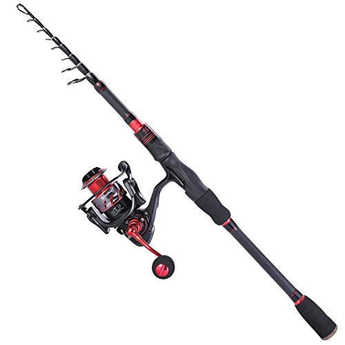 Sougayilang Fishing Rod and Reel Combos, Freshwater Spinning Combos Telescopic Spinning Fishing Rod...