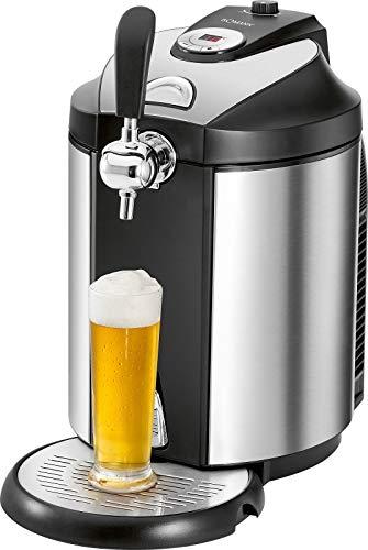 Bierzapfanlage für 5 Liter mit Kühlung Fässer Tischzapfanlage Druckbelüftet für Tollen Bierschaum (Temperaturanzeige, Abnehmbare Tropfschale, Kühlsystem, Bierkühler)