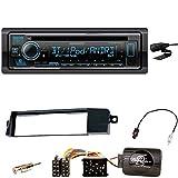 Kenwood KDC-BT530U MP3 AUX WMA Bluetooth USB WAV 1-DIN FLAC Autoradio Freisprecheinrichtung Einbauset für BMW 3er E46