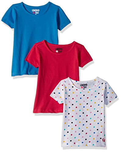 Limited Too Baby Girls' 3 Pack Short Sleeve T-Shirt, Multi Print, 18M