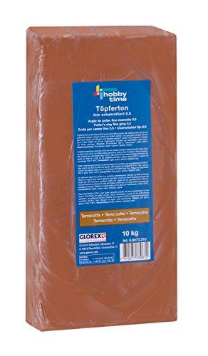 GLOREX 68073210Argile de potier 10kg, Terracotta, 38x 19x 6,5cm