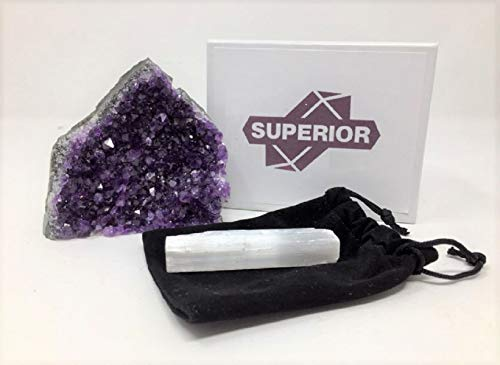 Best AMETHYST Cluster - 1/2 to 1 lb. Feel the glow of this breathtaking deep purple crystal in your own personal space. Plus, BONUS mineral included.