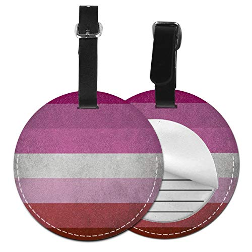 Luggage Tags Pride Flag 3 Suitcase Luggage Tags Business Card Holder Travel ID Bag Tag