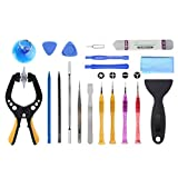 zhangxia Electronics Repair Kits JF-8131 19 en 1 Kit de Herramientas de reparación de desmontaje de Metal y plástico