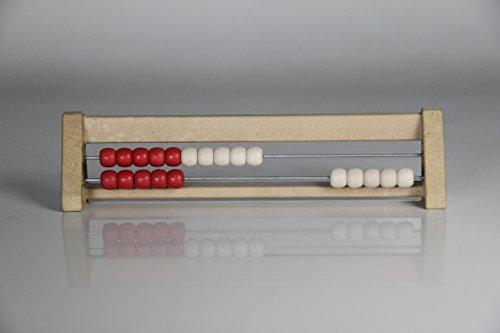 '20' er Rastrillo Marco rojo y blanco, Ábaco, Student 's Abacus, sistema oehl'