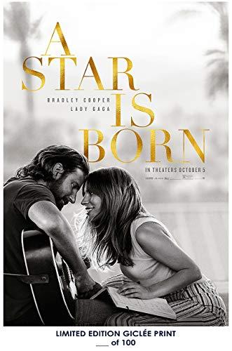 Póster de Bradley Cooper A Star is Born Lady gaga 2018 Reprint #'d/100