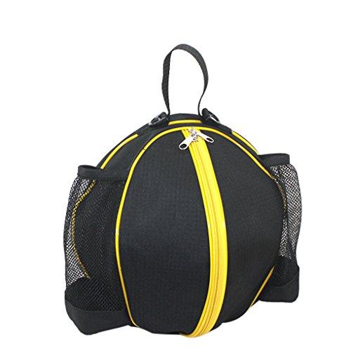 RUIXIB Unisex Sport Basketball Tasche Rucksäcke Balltasche Tragbare Wasserdicht Runde Umhängetasche Handtasche mit Verstellbarer Schulterriemen für Basketball Fußball Volleyball