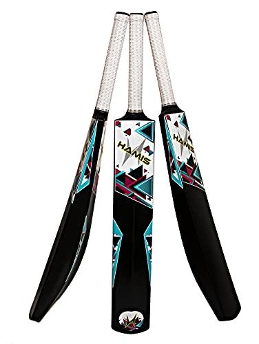 Hamis Plastic Cricket Bat | Cricket Bat Full Size | Plastic Bat | Hard Plastic Alloy Cricket Bat Size 8 (Age 15+)