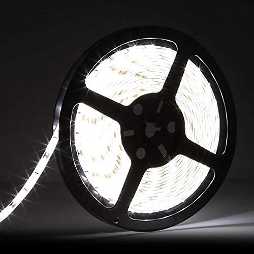 LEDMO 5630 LED Strip, Daylight 300pcs SMD 5630LEDs 16.4Ft DC12V Waterproof IP65, 25Lm/LED, 2 Times Brightness Than SMD5050 LED Ribbon, LED Light Strip