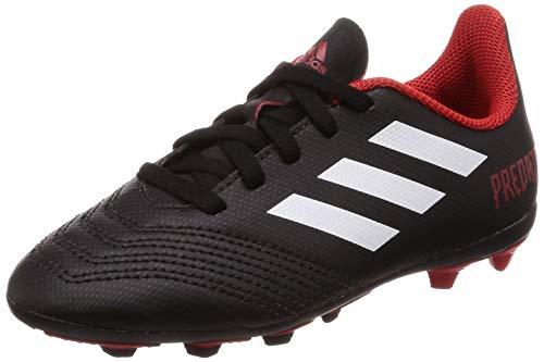 adidas Unisex-Kinder Predator 18.4 FxG Fußballschuhe, Schwarz (Negbás/Ftwbla/Rojo 001), 35.5 EU