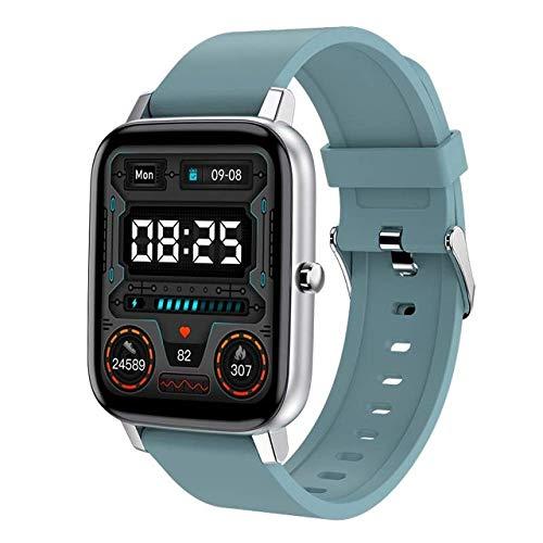 UIEMMY Smartwatch Smart Watch Männer Körpertemperatur Herzfrequenz Fitness Tracker Sport IP67 wasserdichte Smartwatch Frauen Für IOS Android Xiaomi, Blau