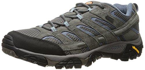 Merrell Women's Moab 2 Waterproof Hiking Shoe, Granite, 9.5 M US