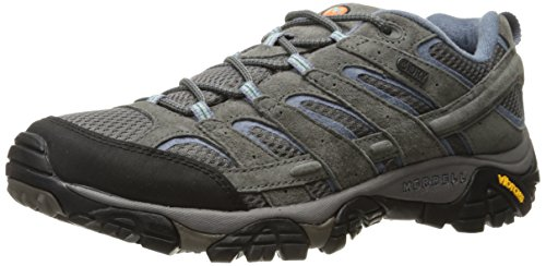 Merrell Women's Moab 2 Waterproof Hiking Shoe, Granite, 8 M US