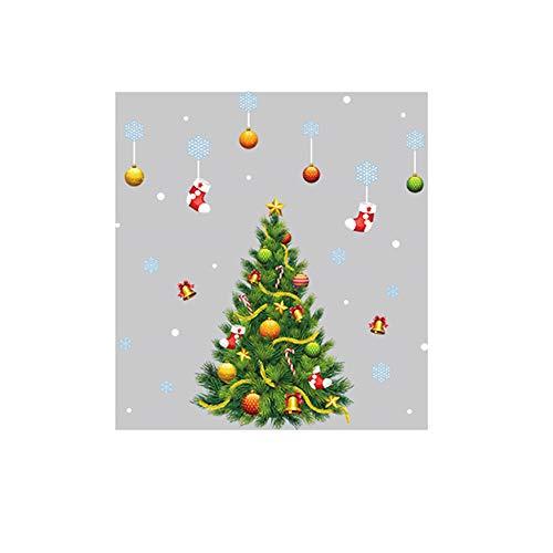 UKtrade 2020 Feliz Navidad & Feliz Año Nuevo PVC Árbol de Navidad Casa Etiqueta Decorativa Festival Ventana Pegatina Espejo Decoración de la Sala Etiqueta Engomada