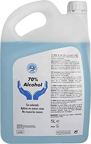 Gel hidroalcohólico 5L. Para manos, desinfección e hidratación garantizada