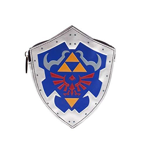 Bioworld Nintendo Legend of Zelda Breath The Wild - Monedero para Mujer (16 cm), Color Gris