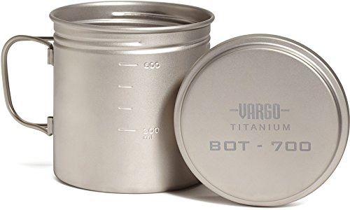 Vargo pot with lid to the side - Vargo BOT 700 Review