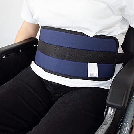 Mobiclinic, Cinturón de sujeción abdominal, Acolchado, Marca Española, para Silla de ruedas, para Sofá, cierre con Clip, Ajustable, Talla L, 90-200 cm