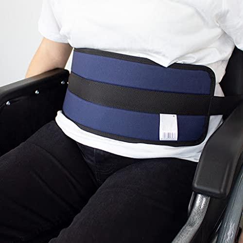 Mobiclinic, Cinturón de sujeción abdominal, Acolchado, Marca Española, para Silla de ruedas, para Sofá, cierre con Clip, Ajustable, Talla M, 75-160 cm