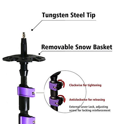 JTD Trekking Poles Hiking Sticks Walking Poles, Ultralight Carbon Fiber Shaft, Comfortable EVA Foam Grips, Flip-Lock, 3-Section Telescopic, Collapsible for Mountaineering, Hiking, Walking - 2 Pack