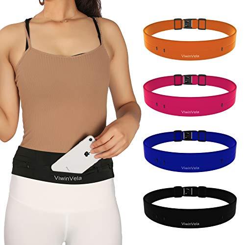 VIWIN VELA Running Belt Waist Pack Ultra-light Adjustable Phone Holder Money Belt for Women Men Jogging Cycling Travel 26'-35'