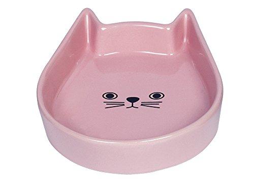 """Nobby Katzen Keramik Schale \""""Kitty Face\"""" pink 13 x 16 x 3 cm"""