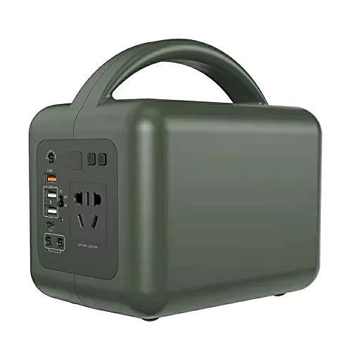 SHIN Generador Solar Portátil 140.4Wh(3.6V 39000mAh), Generador de Camping, Fuente de alimentación de Litio (220V Salida AC, 2*USB, Type-C,linternas LED para Camping, Senderismo) / No so