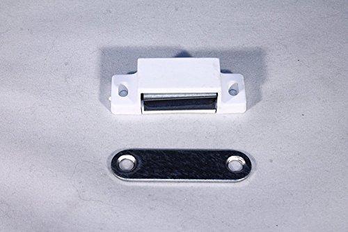 2 Magnetschnäpper weiß 6 kg Haltekraft inkl. 8 Schrauben