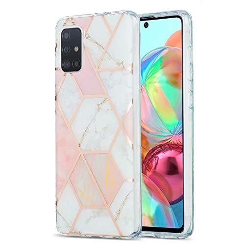 Schutzhülle für Xiaomi Redmi MI 10T Lite 5G, ultradünn, glitzernd, Marmor-Stein-Muster, glänzend, Hybrid-Hülle, dünne weiche Rückseite, TPU-Gummi-Gel-Schutzhülle für Xiaomi Redmi MI 10T Lite 5G
