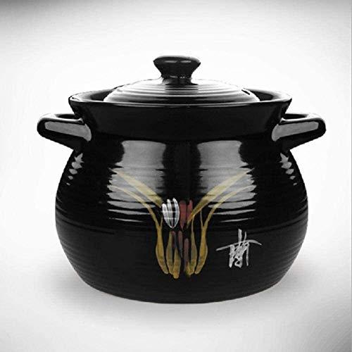 Cocottes Casserole en céramique de la céramique de la céramique de la céramique - Vert et sain, durable, non décolorée et non vieillissante (Color : B, Size : Capacity 4.5L)
